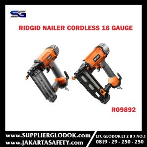 RIDGID Nailer Finish cordless brushless 16 gauge model R09892