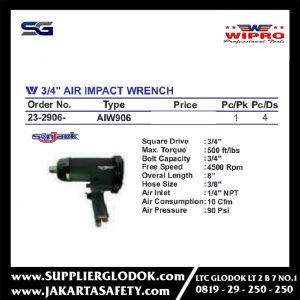3/4″ AIR IMPACT WRENCH WIPRO