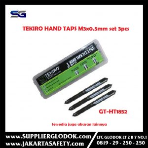 Hand Taps M3 x 0.5 mm Set 3 Pcs Tekiro