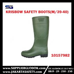 KRISBOW SAFETY BOOTS (M/39-40) GREEN Item #10157982