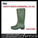 KRISBOW SAFETY BOOTS (L/41-42) GREEN Item #10157983