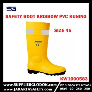 KRISBOW SAFETY BOOTS 45 YELLOW PVC Item #KW1000583