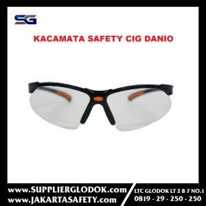 Kacamata Safety CIG Danio 13CIG871Black Frame – Clear Lens