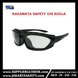 Safety Glass/Kacamata Safety/smoke lens/Google/CIG Eucla – Putih