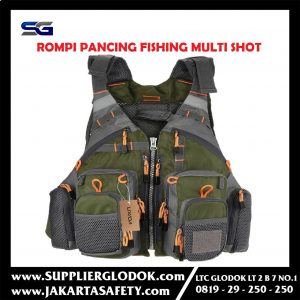 Rompi Pancing Fishing Life Jacket Multi Slot