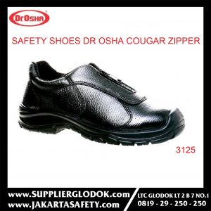 DR OSHA SAFETY SHOES TIPE Cougar Zipper 3125