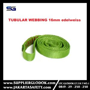 Tubular tape 16mm edelweiss green