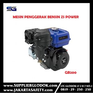 Gasoline Engine Mesin Penggerak Bensin ZS Power GB200 Electric 6.5HP