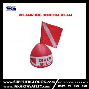 "Signal Buoy / Buoy ""DIVER BELOW"" With Flag / PELAMPUNG BENDERA SELAM"
