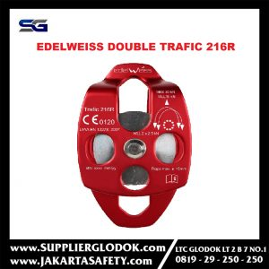 EDELWEISS 216R DUAL B-BEARING PULLEY TRAFIC