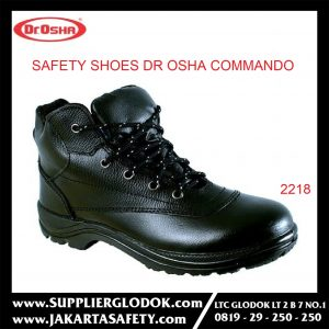 DR OSHA SAFETY SHOES TIPE Commando Ankle Boot 2218 – Hitam, 38