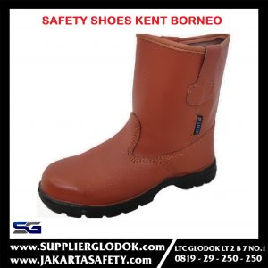 Safety Shoes KENT BORNEO – Cokelat