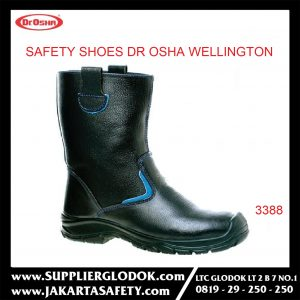 DR OSHA SAFETY SHOES TIPE Wellington Boot 3388 – Hitam, 35