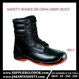 DR OSHA SAFETY SHOES TIPE Army Boot 9311 – Hitam, 44