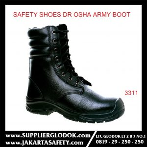 DR OSHA SAFETY SHOES TIPE Army Boot 3311