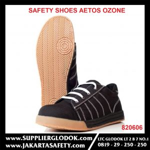 AETOS sepatu safety Ozone Lace Up Shoes 820606 Black