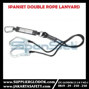 SPANSET DOUBLE ROPE LANYARD WITH ABSORBER