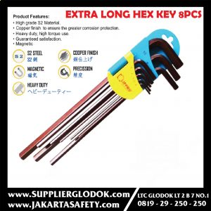 LIPPRO EXTRA LONG HEX KEY WRENCH SET 8 PCS
