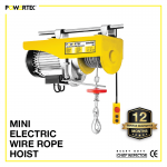 Mini Electric Wire Rope Hoist Powertec