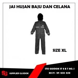 JAS HUJAN SET HITAM ( XL )