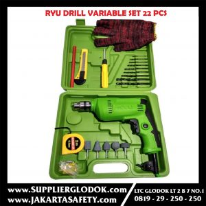 Drill 10mm Variable SET 22pcs Mesin bor Set Ryu 10mm RDR10-3RE Bor 10