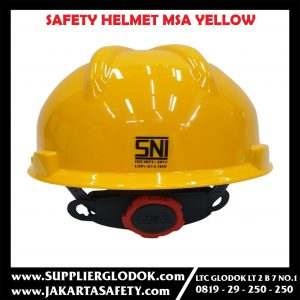 Safety Helmet SNI MSA Lokal Helm Proyek plus sarang Puter Fastrack (YELLOW)